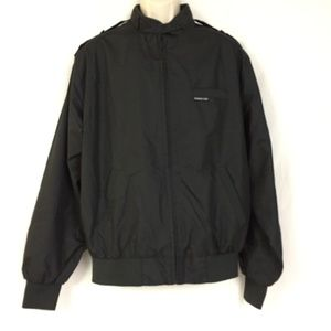 Vtg Members Only Jacket Large Tall LT Black